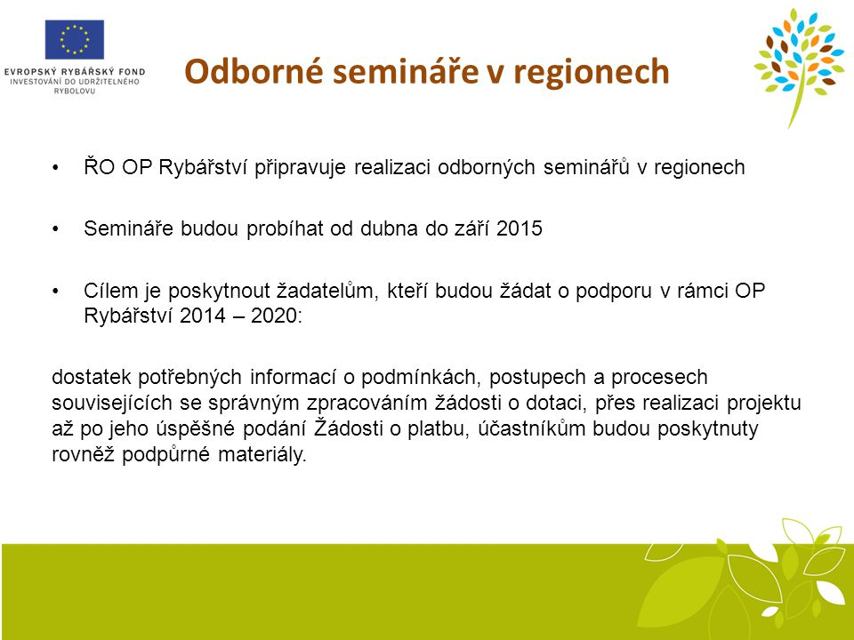 Odborné semináře v regionech