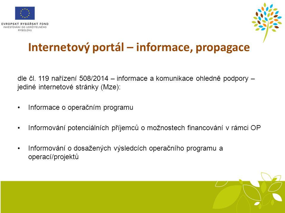 Internetový portál – informace, propagace