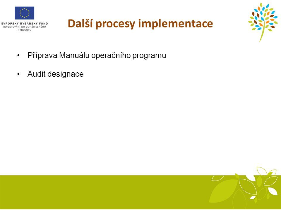 Další procesy implementace