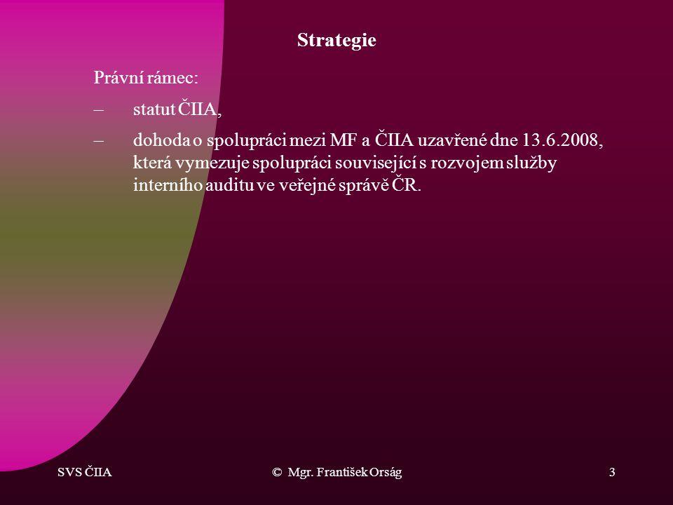 Strategie Právní rámec: statut ČIIA,