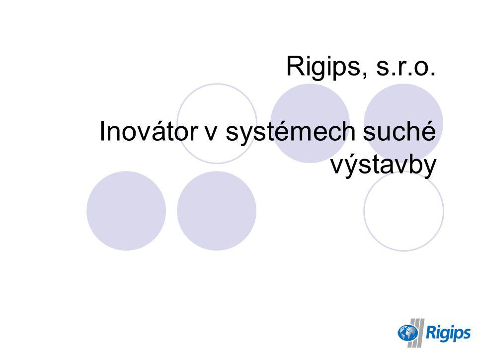 Rigips, s.r.o. Inovátor v systémech suché výstavby