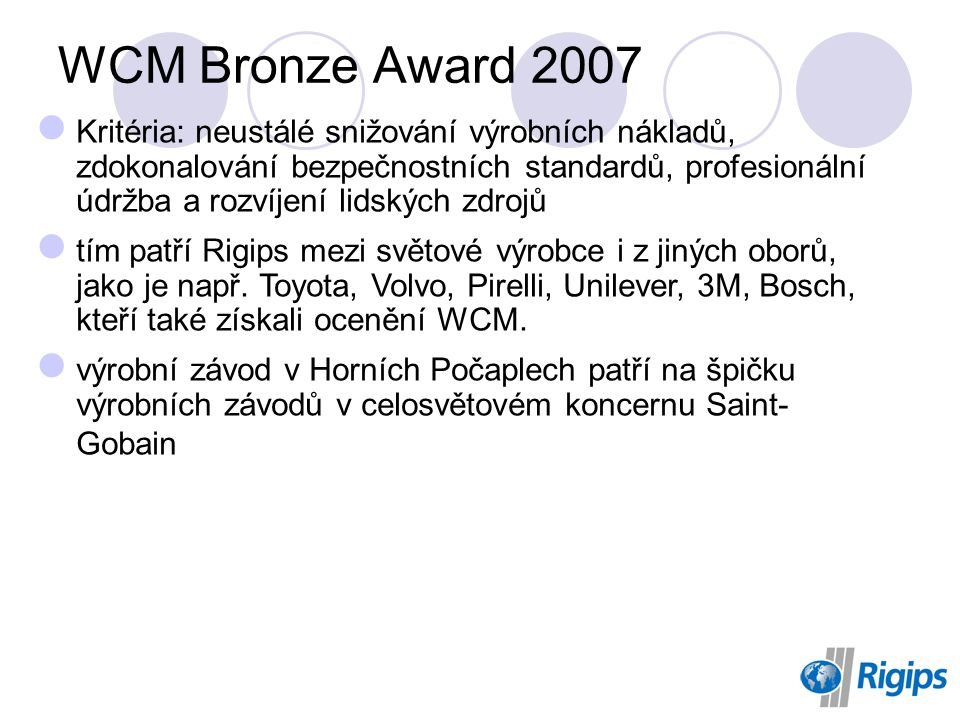 WCM Bronze Award 2007