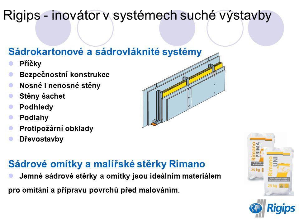Rigips - inovátor v systémech suché výstavby