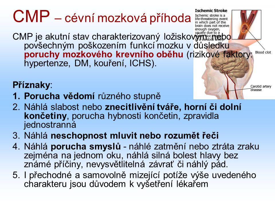 CMP – cévní mozková příhoda