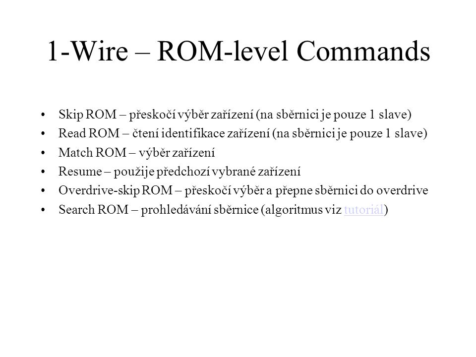 1-Wire – ROM-level Commands