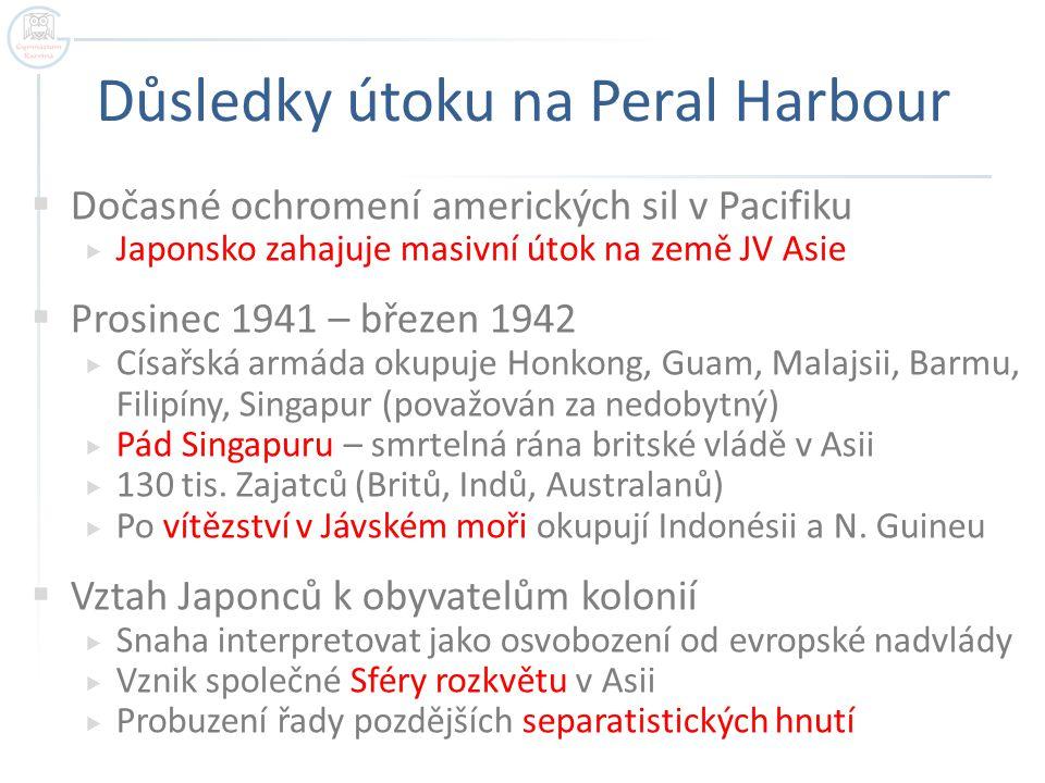 Důsledky útoku na Peral Harbour