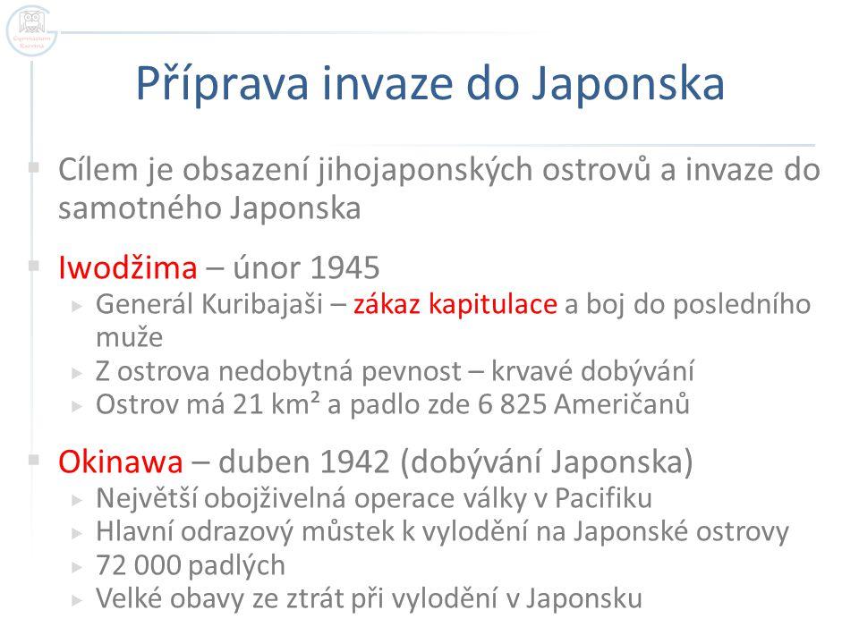 Příprava invaze do Japonska