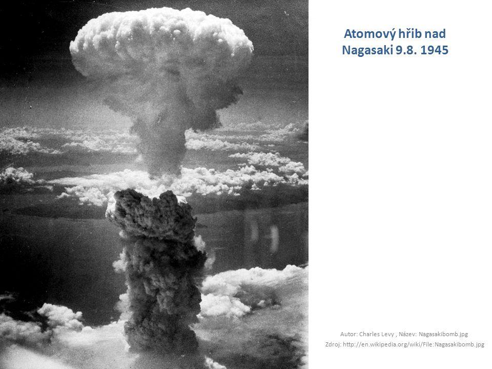 Atomový hřib nad Nagasaki 9.8. 1945