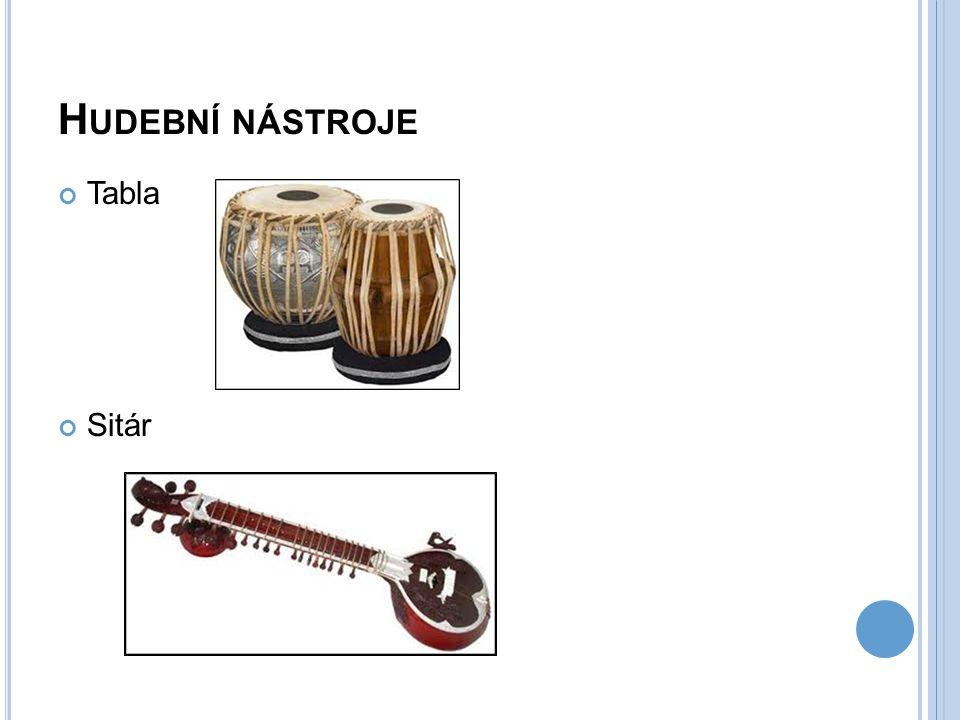 Hudební nástroje Tabla Sitár