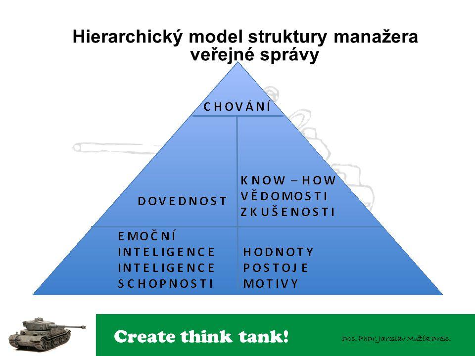 Hierarchický model struktury manažera veřejné správy