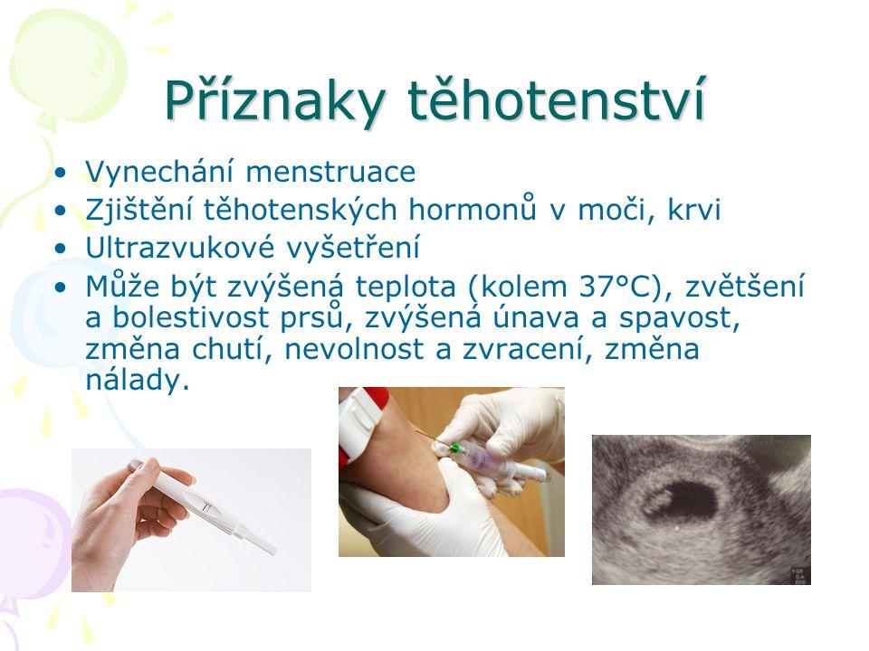 Příznaky těhotenství Vynechání menstruace