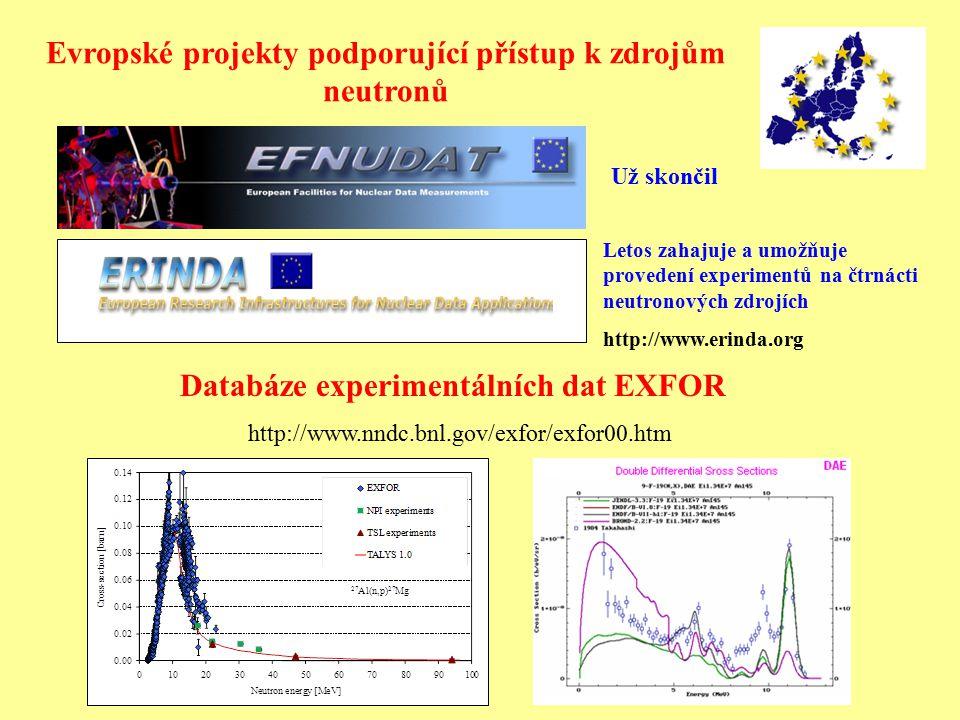 Evropské projekty podporující přístup k zdrojům neutronů