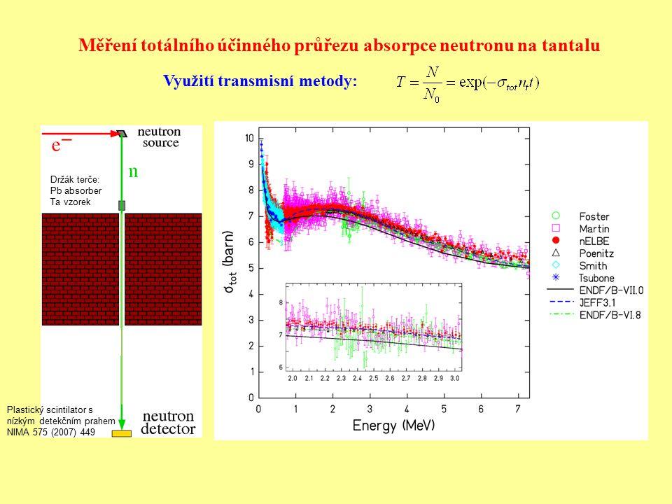Měření totálního účinného průřezu absorpce neutronu na tantalu