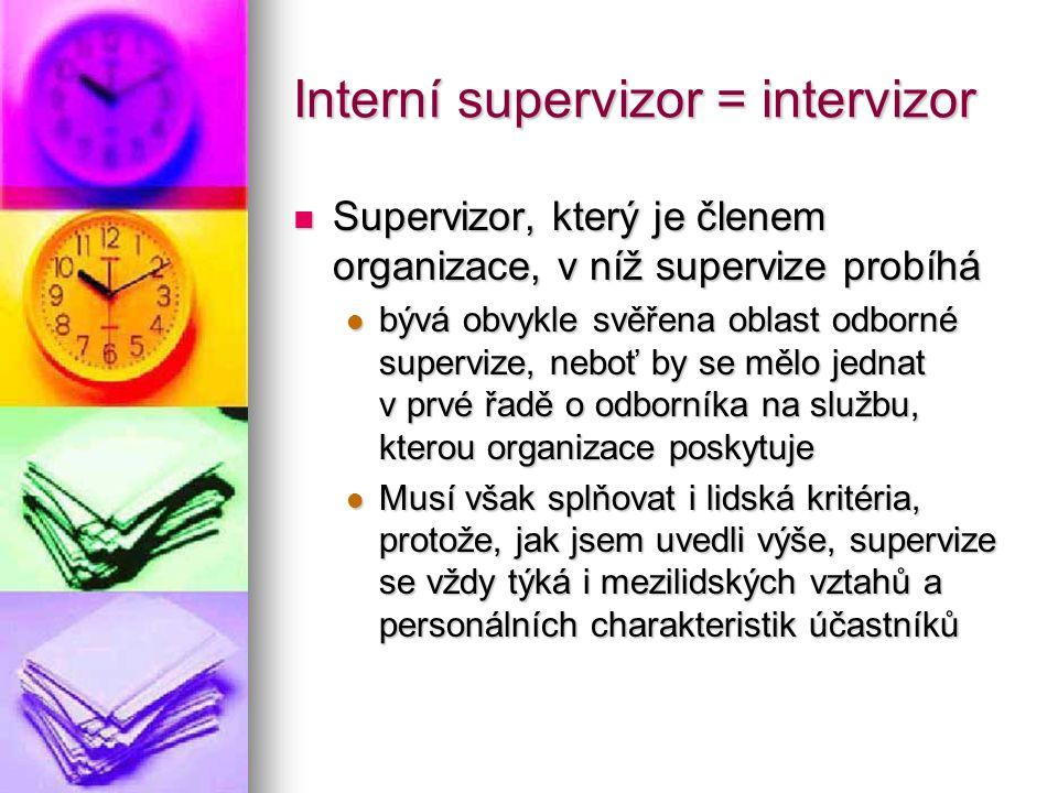 Interní supervizor = intervizor