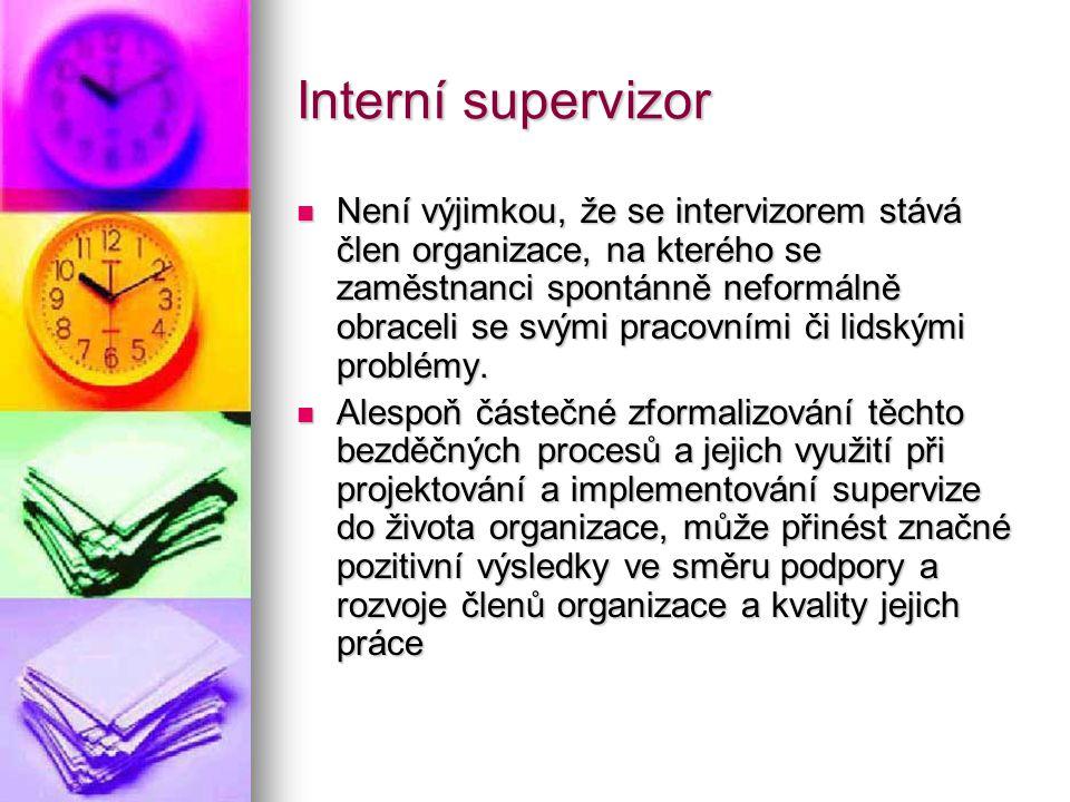 Interní supervizor