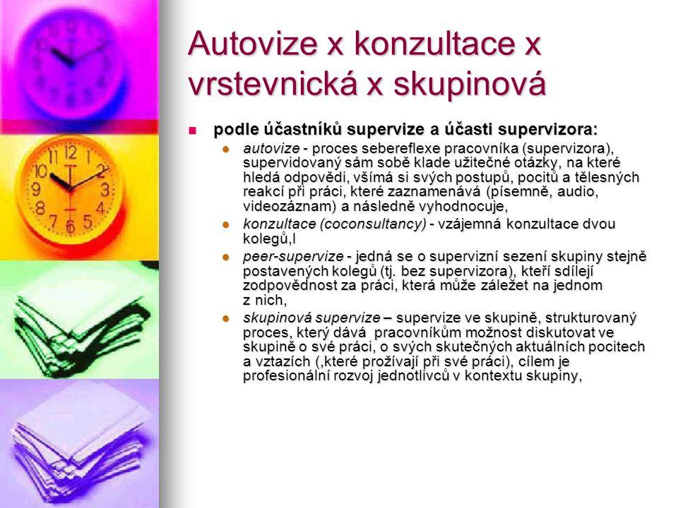 Autovize x konzultace x vrstevnická x skupinová