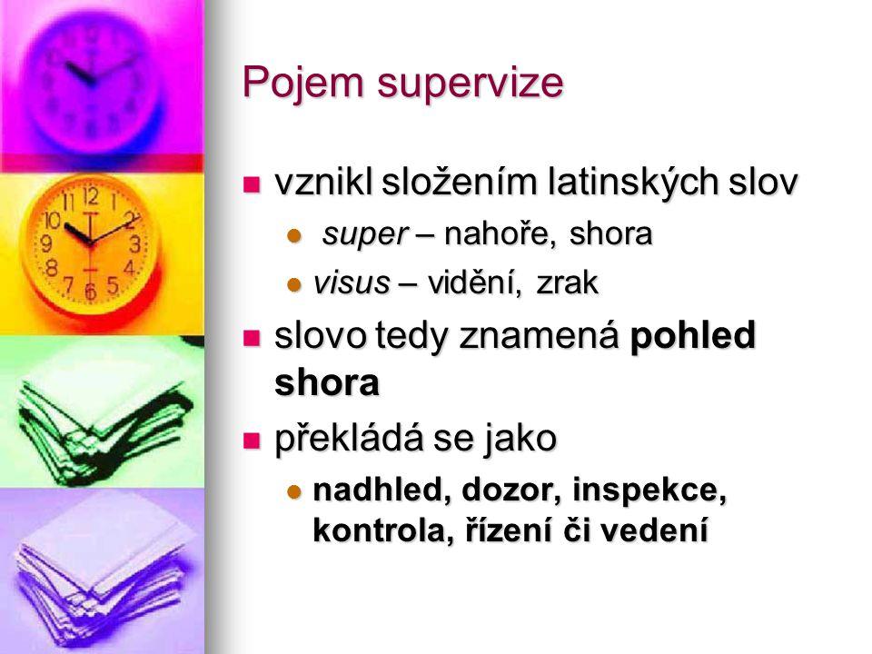 Pojem supervize vznikl složením latinských slov