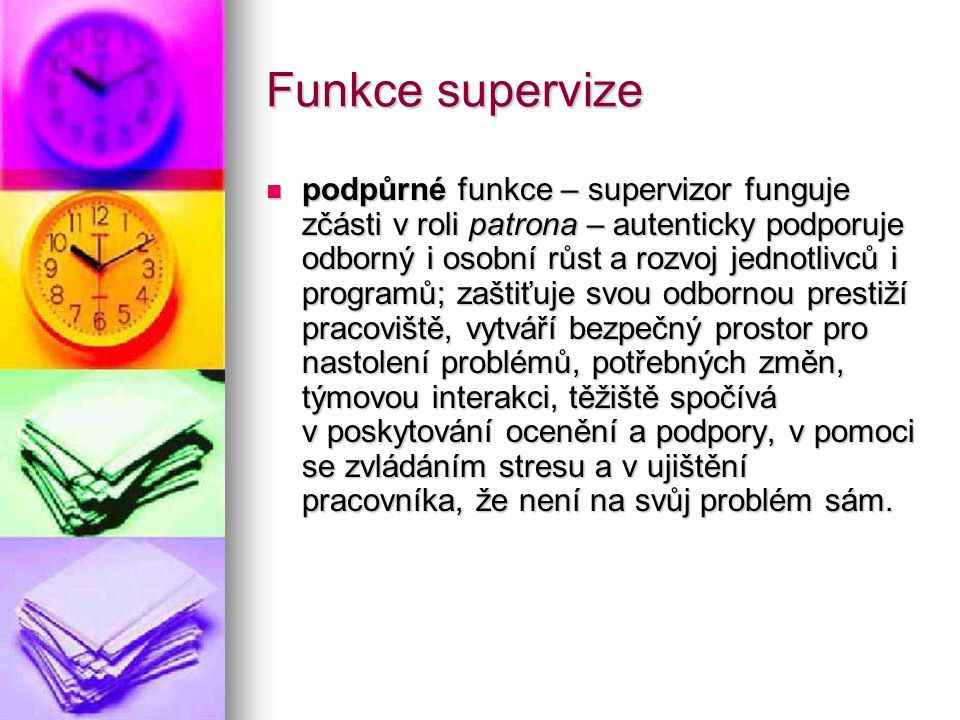 Funkce supervize
