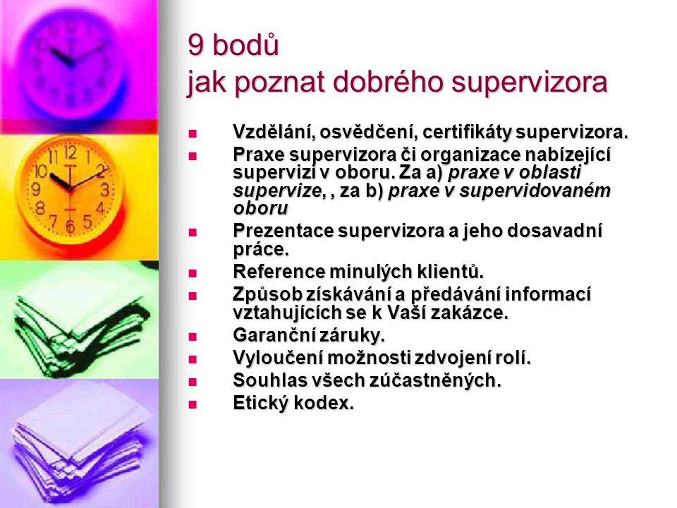 9 bodů jak poznat dobrého supervizora