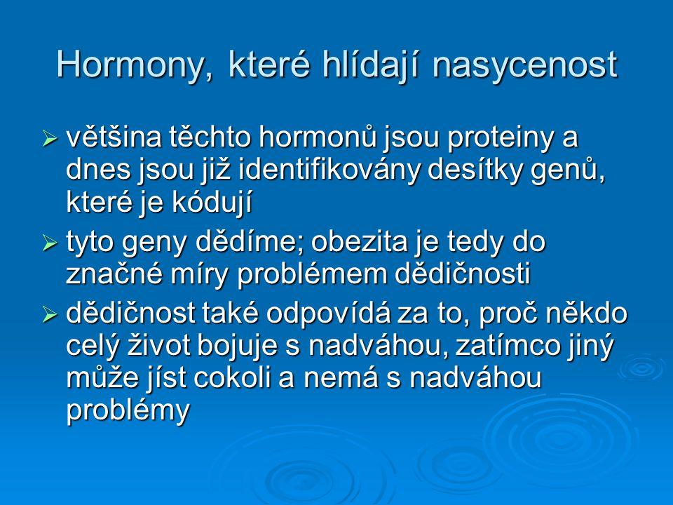 Hormony, které hlídají nasycenost