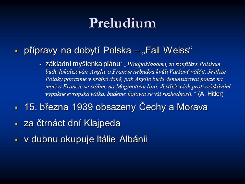 "Preludium přípravy na dobytí Polska – ""Fall Weiss"
