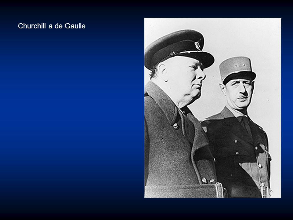 Churchill a de Gaulle