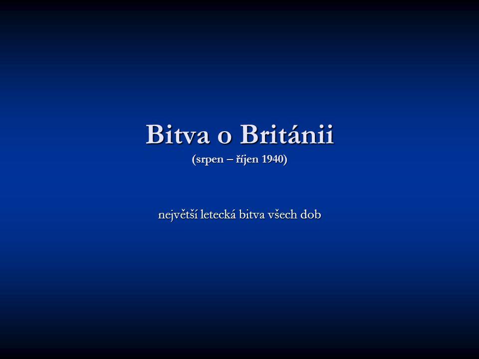 Bitva o Británii (srpen – říjen 1940)