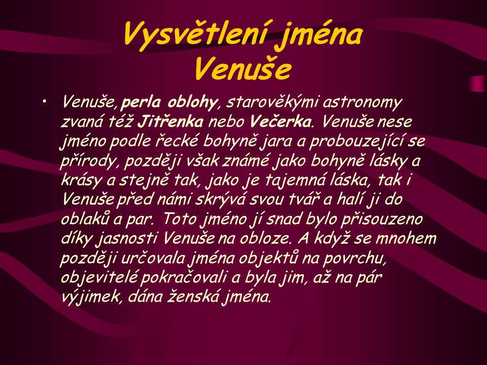 Vysvětlení jména Venuše