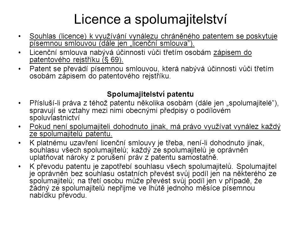 Licence a spolumajitelství