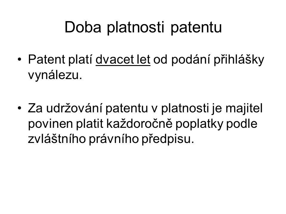 Doba platnosti patentu