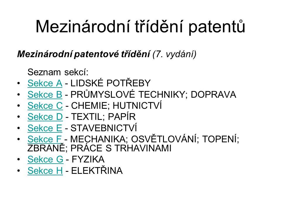 Mezinárodní třídění patentů