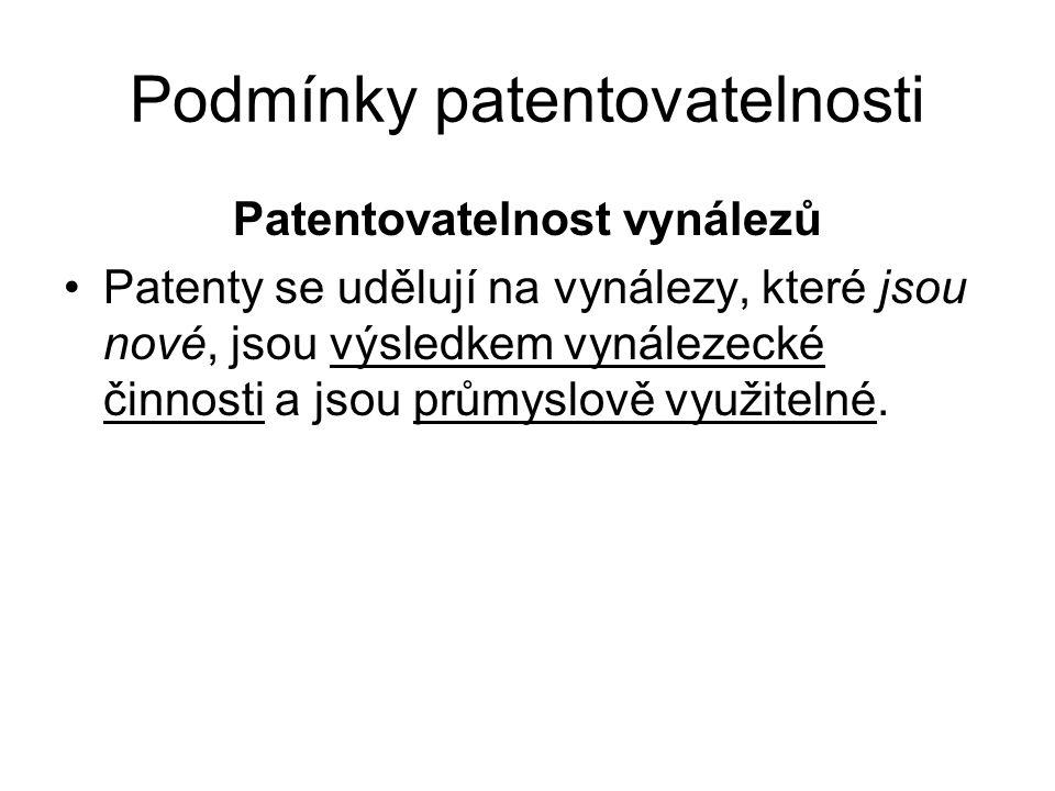 Podmínky patentovatelnosti