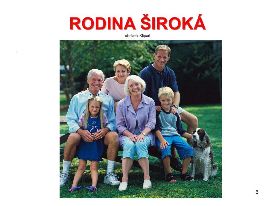 RODINA ŠIROKÁ obrázek Klipart