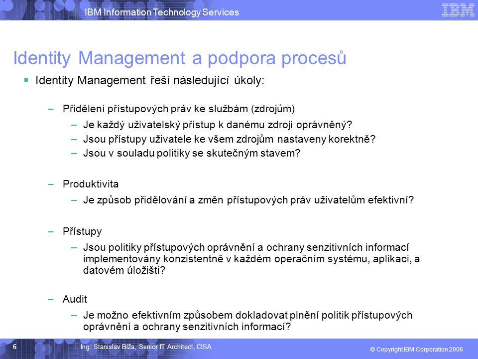 Identity Management a podpora procesů