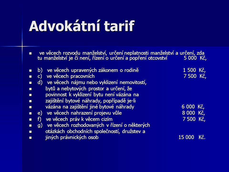 Advokátní tarif