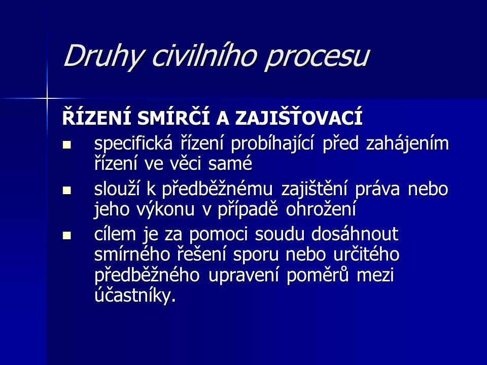 Druhy civilního procesu
