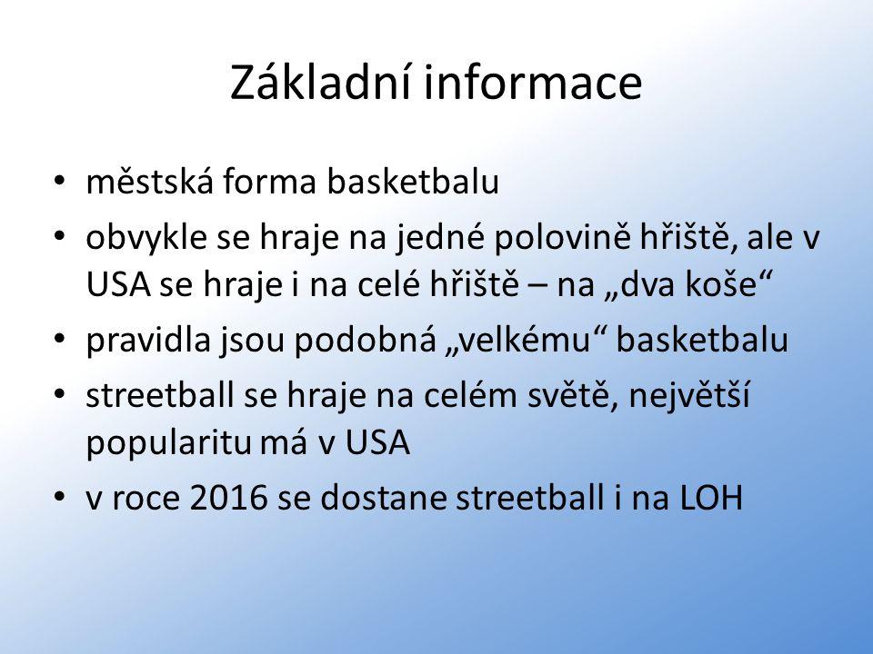 Základní informace městská forma basketbalu