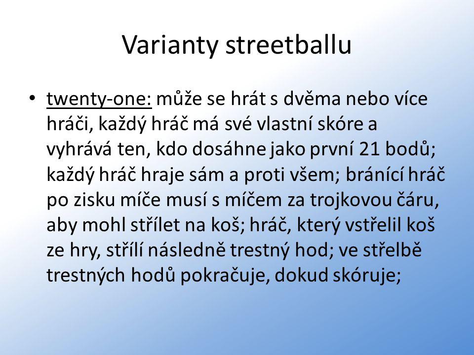 Varianty streetballu