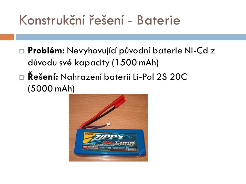 Konstrukční řešení - Baterie