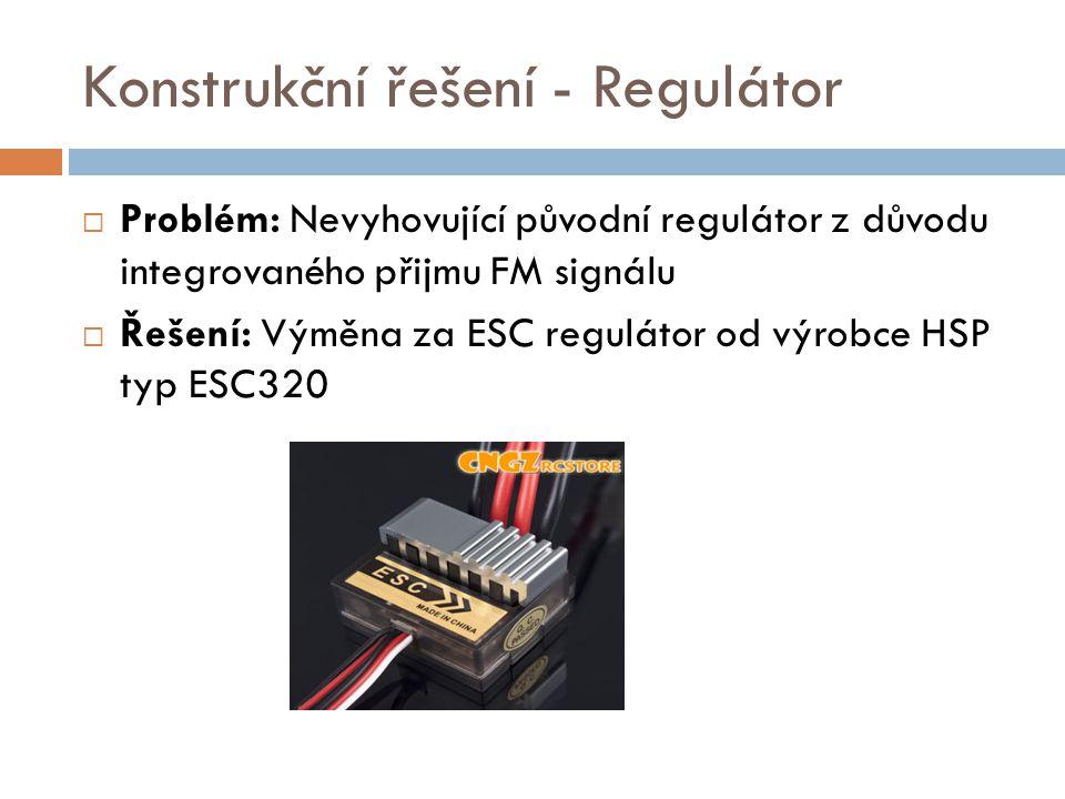 Konstrukční řešení - Regulátor