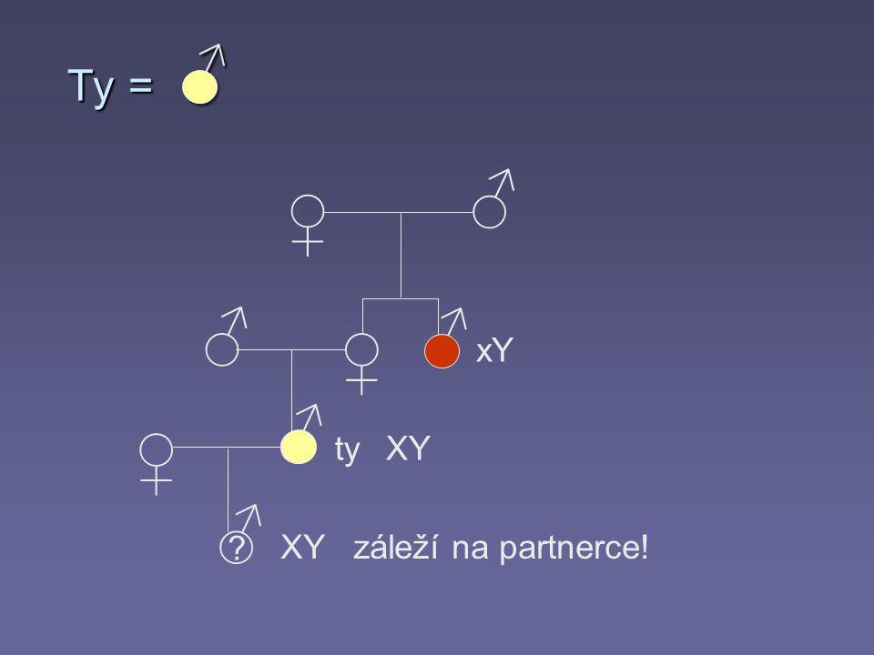 Ty = ♂ ♂ ♀ ♂ ♂ ♀ xY ♂ ♀ ty XY ♂ XY záleží na partnerce!