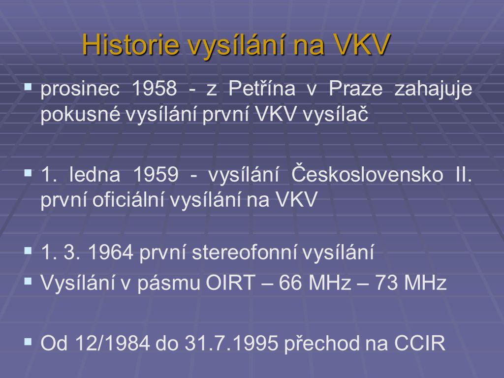 Historie vysílání na VKV
