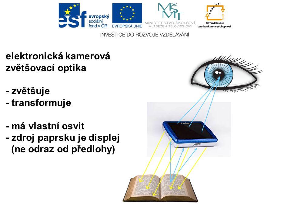 elektronická kamerová zvětšovací optika