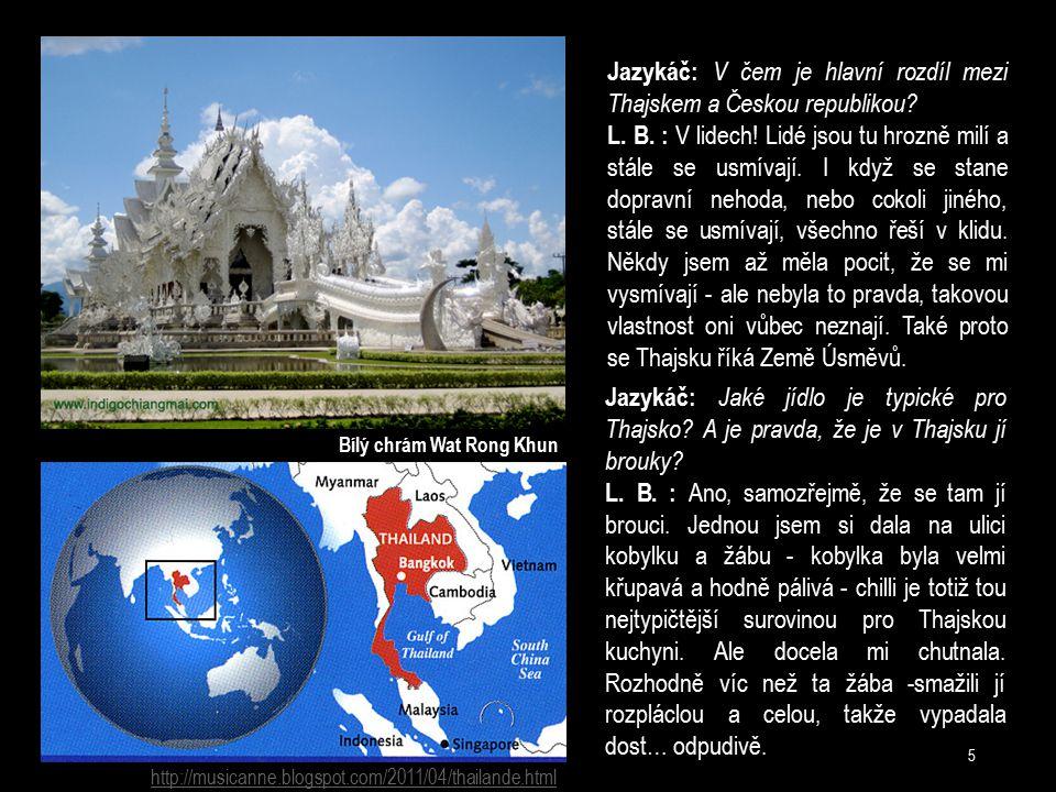 Jazykáč: V čem je hlavní rozdíl mezi Thajskem a Českou republikou