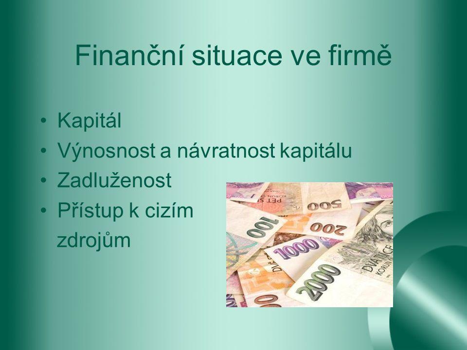 Finanční situace ve firmě