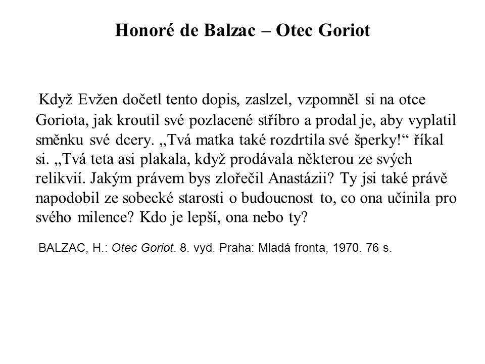 Honoré de Balzac – Otec Goriot
