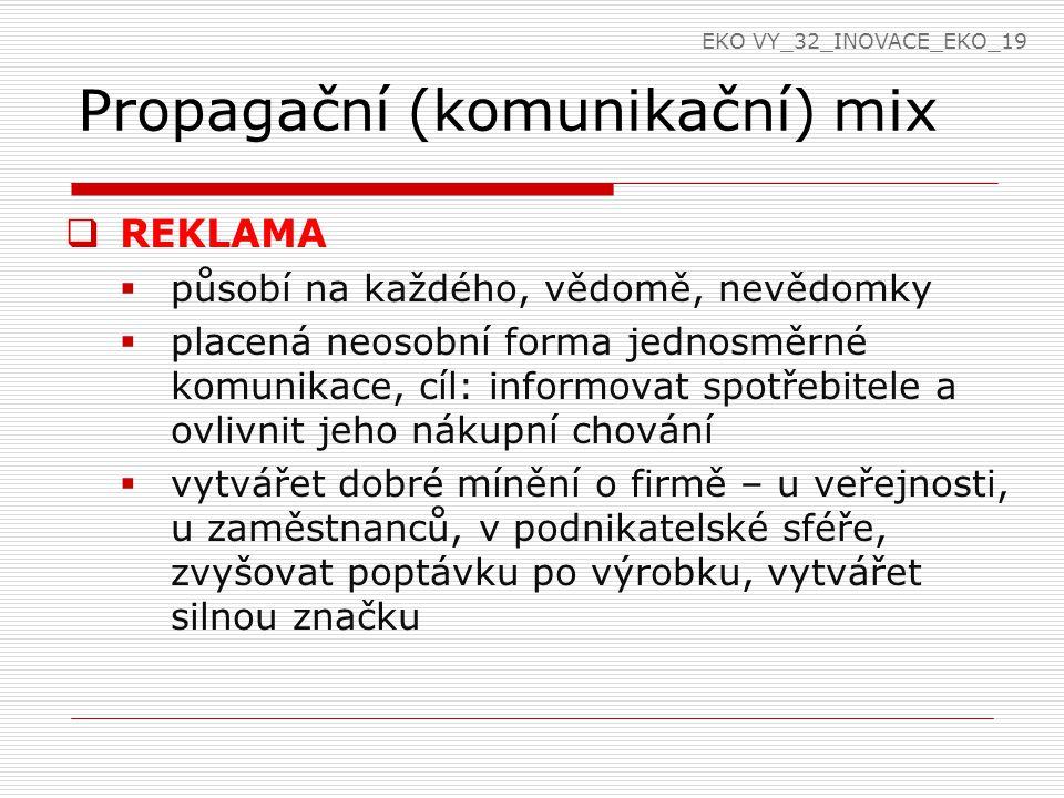 Propagační (komunikační) mix