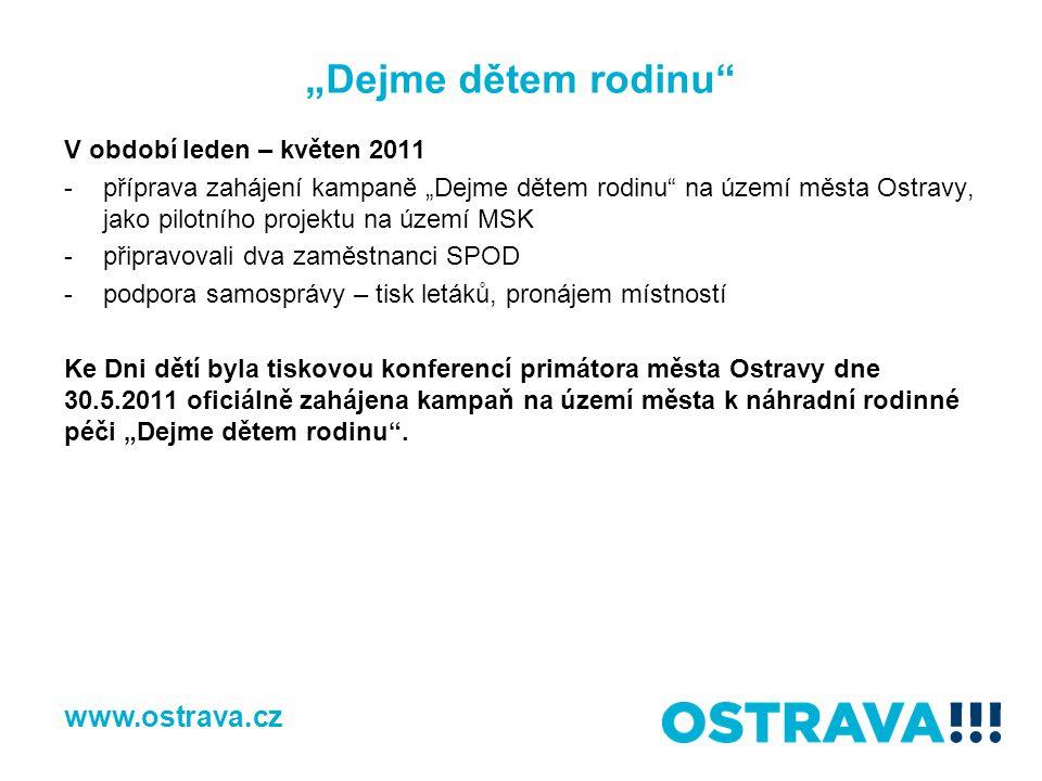 """""""Dejme dětem rodinu www.ostrava.cz V období leden – květen 2011"""