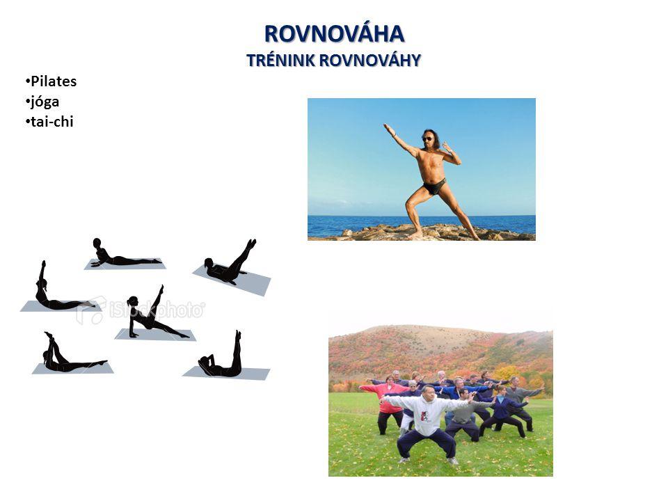 ROVNOVÁHA TRÉNINK ROVNOVÁHY Pilates jóga tai-chi