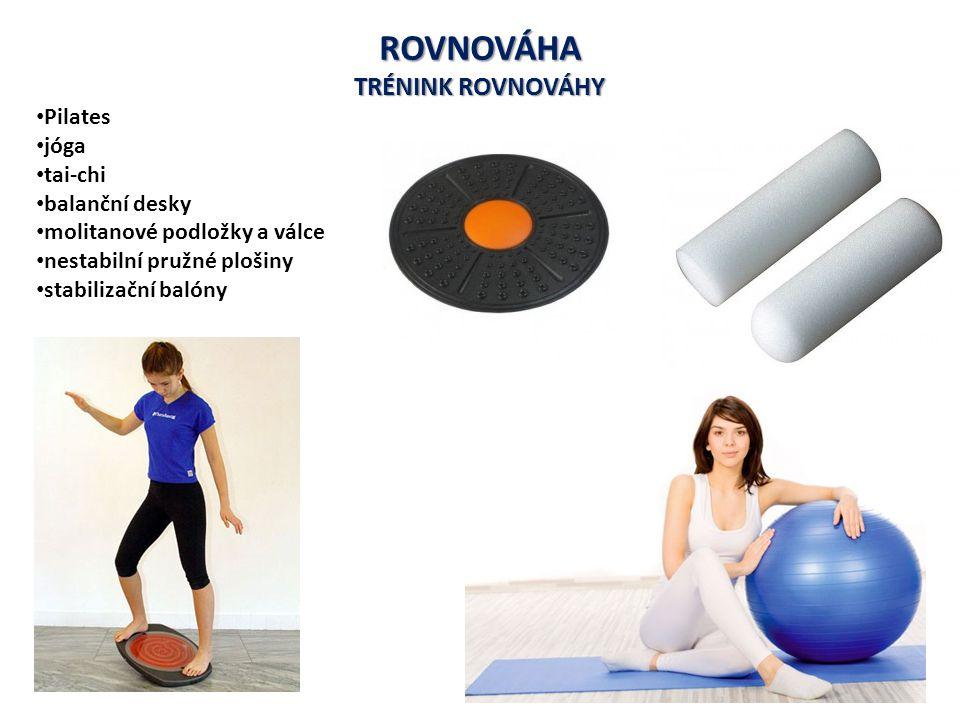 ROVNOVÁHA TRÉNINK ROVNOVÁHY Pilates jóga tai-chi balanční desky